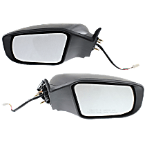 Power Mirror, Driver and Passenger Side, Sedan, Non-Folding, Non-Heated, w/o Signal, Paintable
