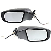 Kool Vue Power Mirror, Driver and Passenger Side, Sedan, Non-Folding, Non-Heated, w/o Signal, Paintable