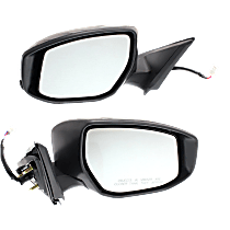 Mirror - Driver and Passenger Side (Pair), Power, Folding, Paintable, With Turn Signal