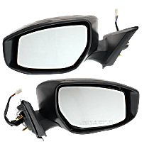 Mirror - Driver and Passenger Side (Pair), Power, Heated, Folding, Paintable, With Turn Signal