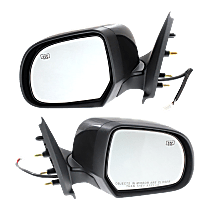 Mirror - Driver and Passenger Side (Pair), Power, Folding, Heated, Folding, Paintable, For Sedan