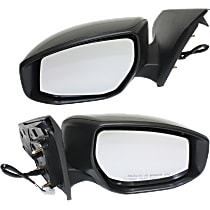 Power Mirror, Driver and Passenger Side, Non-Folding, Non-Heated, w/o Signal, Paintable