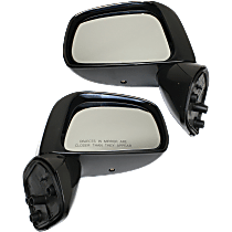 Mirror - Driver and Passenger Side (Pair), Paintable, For Sedan