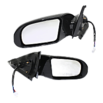 Mirror - Driver and Passenger Side (Pair), Power, Heated, Folding, Paintable, With Turn Signal, and Memory