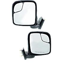 Kool Vue Manual Mirror, Driver and Passenger Side, S Model, Manual Folding, Textured Black