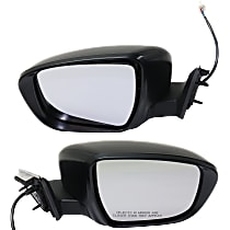 Mirror - Driver and Passenger Side (Pair), Power, Paintable, For Korea Or US Built Models