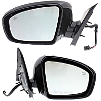 Mirror - Driver and Passenger Side (Pair), Power, Heated, Paintable, w/ Memory, Models Without Around View Monitor