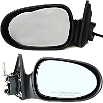 Mirror - Driver and Passenger Side (Pair), Power, Paintable, Mexico Built Sedans