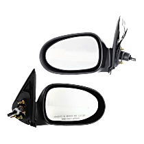 Mirror - Driver and Passenger Side (Pair), Manual Remote, Paintable