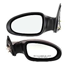 Kool Vue Power Mirror, Driver and Passenger Side, For S/SE Models, Non-Folding, Non-Heated, Paintable