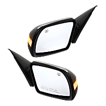 Mirror - Driver and Passenger Side (Pair), Power, Folding, Heated, Folding, Paintable, With Turn Signal, For Sedan