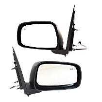 Mirror - Driver and Passenger Side (Pair), Power, Heated, Folding, Paintable, For Crew Cab