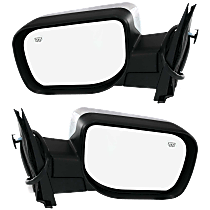 Power Mirror, Driver and Passenger Side, Manual Folding, Heated, Chrome