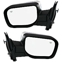 Kool Vue Power Mirror, Driver and Passenger Side, Manual Folding, Heated, Chrome