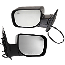 Mirror - Driver and Passenger Side (Pair), Power, Heated, Folding, Textured Black