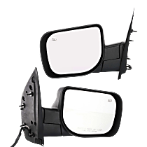 Power Mirror, Driver and Passenger Side, Manual Folding, Heated, w/ Memory and Puddle Light, Chrome