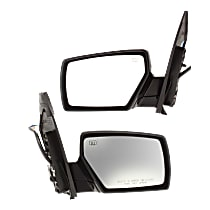Power Mirror, Driver and Passenger Side, Manual Folding, Heated, w/ Memory and Puddle Light, Paintable