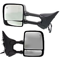 Kool Vue Power Mirror, Driver and Passenger Side, SE Model w/ Towing Package, Manual Folding, Heated, Chrome