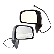 Mirror - Driver and Passenger Side (Pair), Power, Folding, Paintable, For Sedan or Hatchback