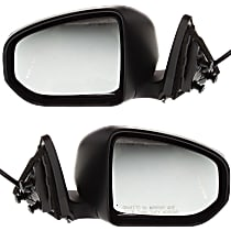Kool Vue Power Mirror, Driver and Passenger Side, Convertible/Coupe, Manual Folding, Non-Heated, Paintable