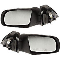 Mirror - Driver and Passenger Side (Pair), Power, Folding, Paintable, With Turn Signal, For Coupe