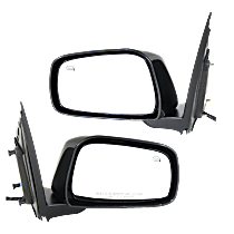Mirror - Driver and Passenger Side (Pair), Power, Heated, Paintable, For Crew Cab