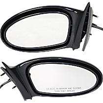 Mirror - Driver and Passenger Side (Pair), Power, Folding, Paintable, Spring Type