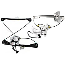 Front and Rear, Passenger Side Power Window Regulator, With Motor - Sedan