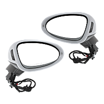 Driver and Passenger Side Heated Mirror - Power Glass, Power Folding, In-housing Signal Light, Without memory, Paintable