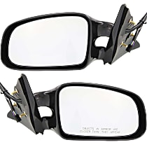 Kool Vue Power Mirror, Driver and Passenger Side, GT Model, Non-Folding, Non-Heated, Paintable
