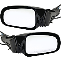 Power Mirror, Driver and Passenger Side, Convex Glass(RH)/Flat Glass(LH), Non-Folding, Non-Heated, Paintable