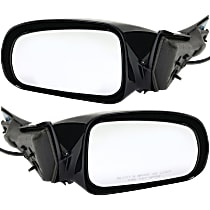 Kool Vue Power Mirror, Driver and Passenger Side, Convex Glass(RH)/Flat Glass(LH), Non-Folding, Non-Heated, Paintable