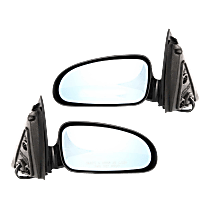 Mirror - Driver and Passenger Side (Pair), Power, Heated, Paintable, Blue Glass