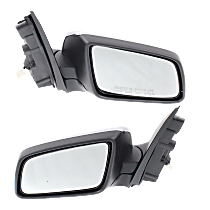 Mirror - Driver and Passenger Side (Pair), Power, Folding, Chrome