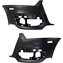 Bumper Cover - Front, Driver and Passenger Side, 2 Pieces, Primed, For Models Without Parking Aid Sensors and Parallel Park Assist, CAPA Certified