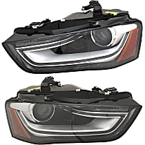Driver and Passenger Side HID/Xenon Headlight, Without HID bulb and ballast; With turn signal bulb