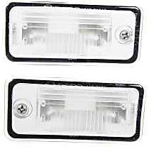 License Plate Light - Plastic, Direct Fit, Set of 2 Rear, Driver and Passenger Side