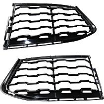 Front, Driver and Passenger Side Fog Light Cover, Black