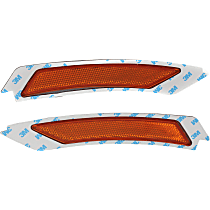 Front, Driver and Passenger Side Bumper Reflector