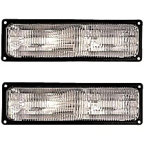 SET-RB1630022-F Driver and Passenger Side Turn Signal Light, Without bulb(s)
