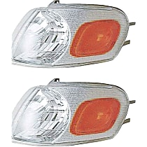 Front, Driver and Passenger Side Turn Signal Light, Without bulb(s)