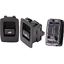 Window Switch - Rear, Driver and Passenger Side, Black, Set of 3