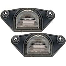 SET-RB68167-2 License Plate Light Lens - Direct Fit, Set of 2