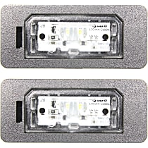 Replacement SET-RB73290002-2 License Plate Light - Plastic, Direct Fit, Set of 2