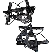 SET-RB740179 Front, Driver and Passenger Side Power Window Regulator, Without Motor