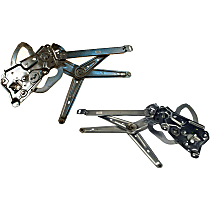 SET-RB740402 Front, Driver and Passenger Side Power Window Regulator, Without Motor