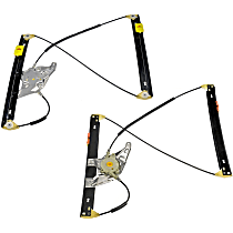 SET-RB740499 Front, Driver and Passenger Side Power Window Regulator, Without Motor