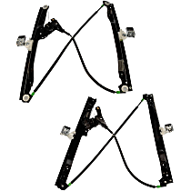 SET-RB740691 Front, Driver and Passenger Side Power Window Regulator, Without Motor
