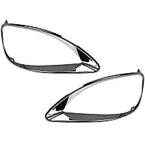 SET-RB8895201 Headlight Bezel - Chrome, Plastic, Direct Fit, Set of 2