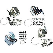 Dorman Door Hinge - SET-RB924102-F - Front, Driver and Passenger Side, Upper and Lower, Natural, Steel, Direct Fit, Set of 4